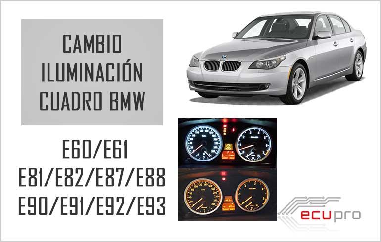 cambio iluminación cuadro bmw e60 e90