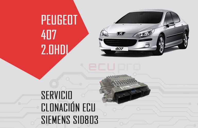 Clonación centralita Peugeot 407