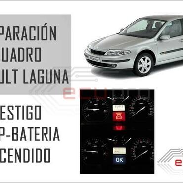 stop y batería cuadro Renault