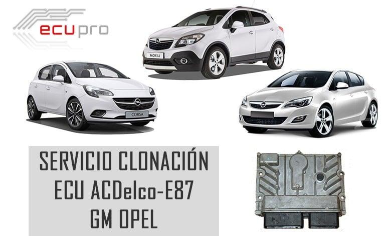 ECU motor ACDelco E87 Opel-Fallos y soluciones