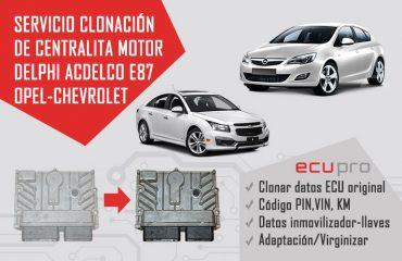 centralita opel Acdelco e87 servicio de clonación