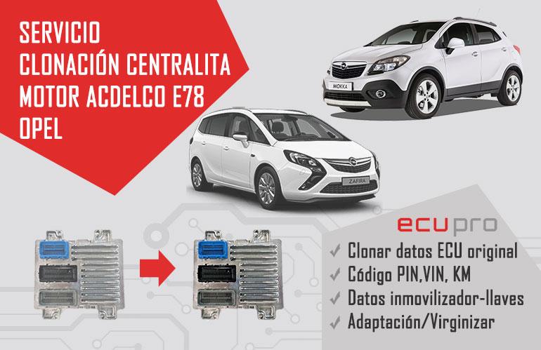 clonación centralita Opel ACDelco E78