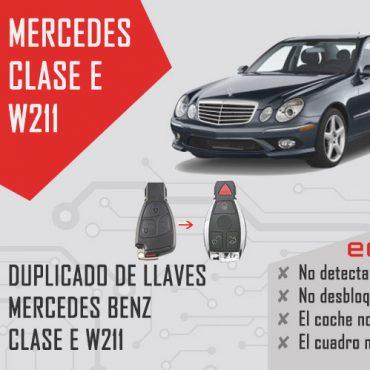 duplicado llave mercedes w211