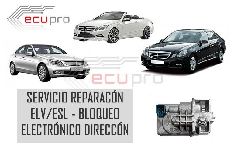 Reparación Fallo ELV Mercedes- no desbloquea la dirección