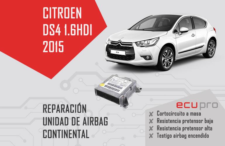 reparación airbag Citroen DS4