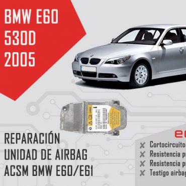 reparación centralita de airbag bmw e60