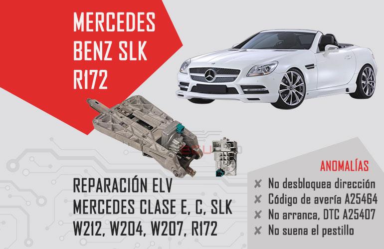 mercedes slk r172 reparar elv
